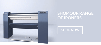Flat commercial ironers suitable for B&B's, care homes and NHS, hospitals
