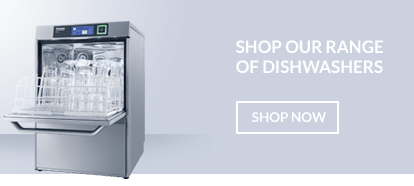 Miele commercial dishwasher suitable for restaurants and hotels.