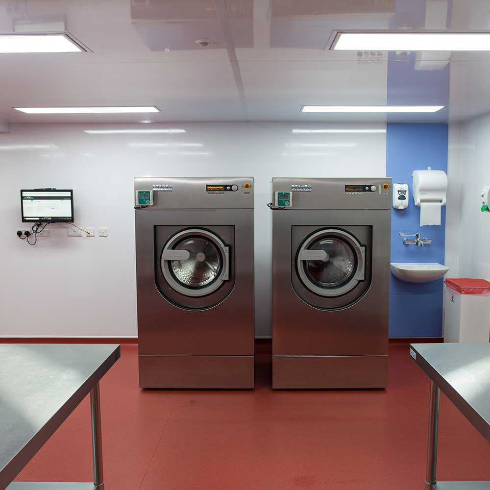 Commercial laundry solutions suitable for care home groups.