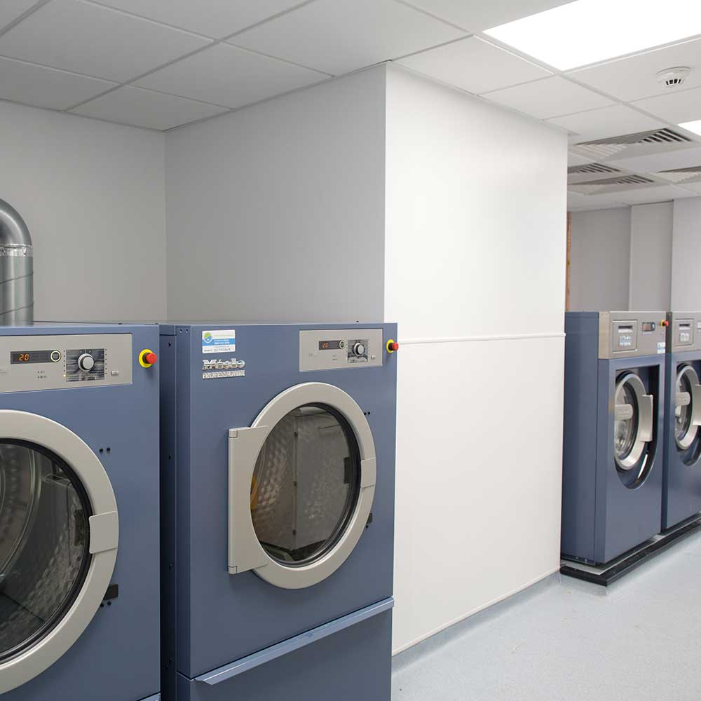 Commercial laundry solutions suitable for vets and animal care.