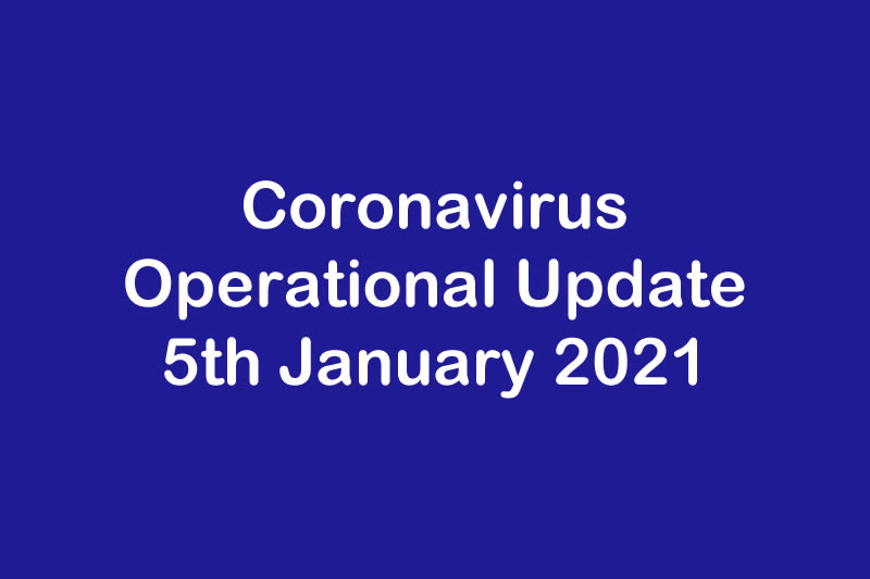 Operational Update for Coronavirus COVID 19 & JTM Service 21