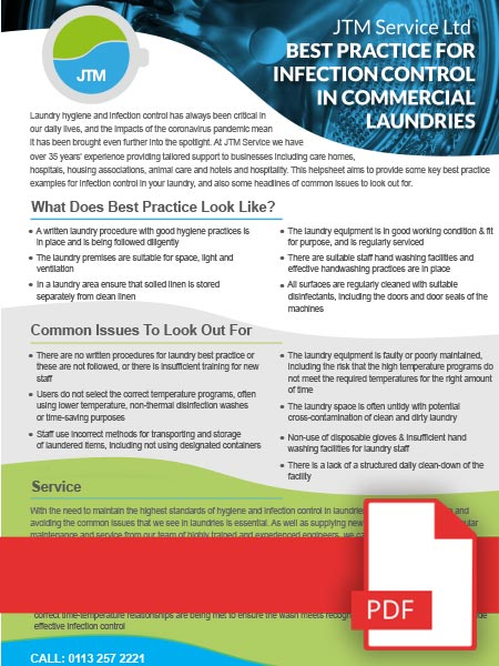 Best Practice For Infection Control in Commercial Laundries 1